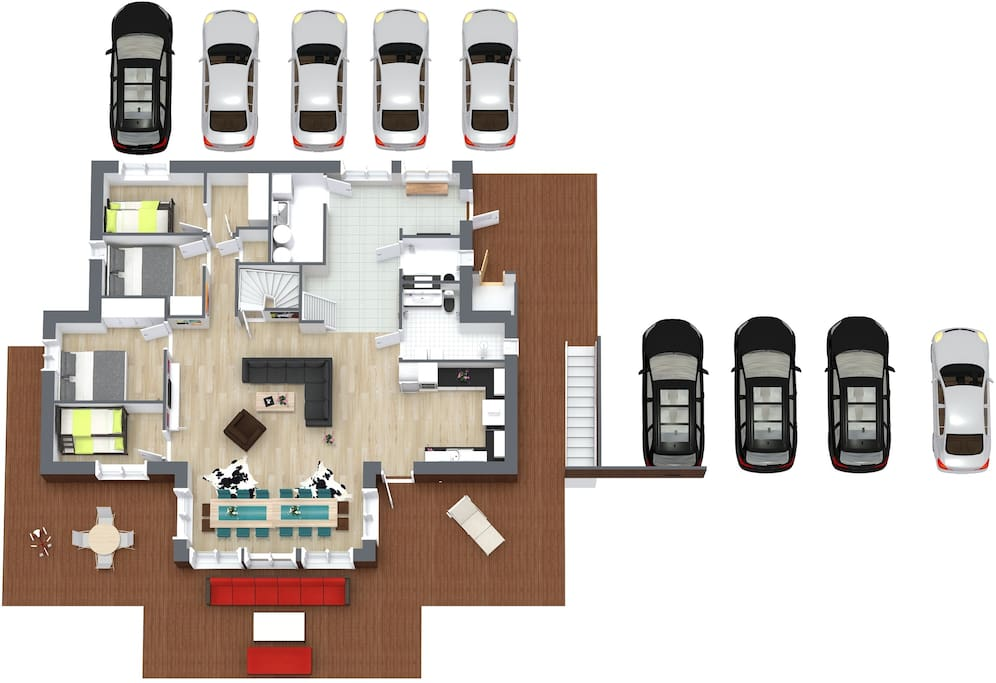 Second Floor - a lot of parking