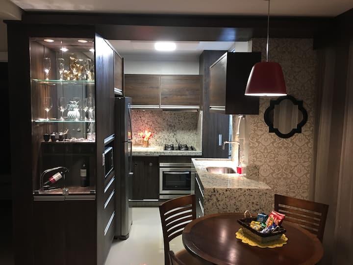 Apartamento completo e decorado para até 4 pessoas