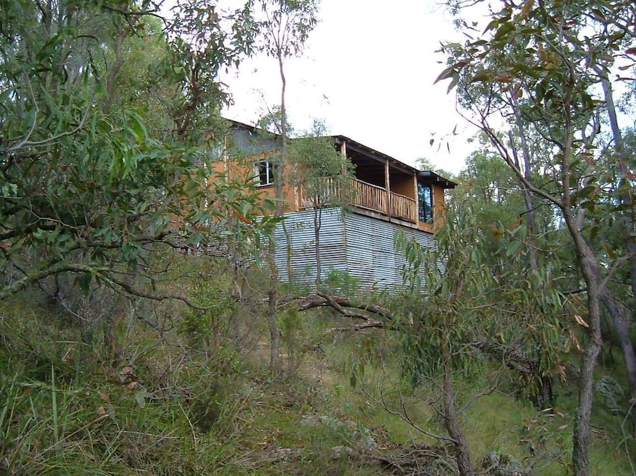 Aspect of cabin with a view of the Grattai valley