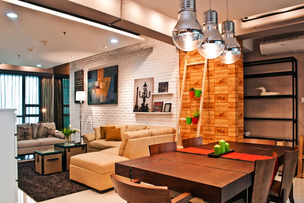 Modern industrial living area