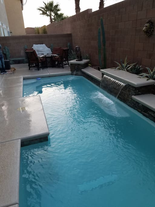 Private home pool view 1