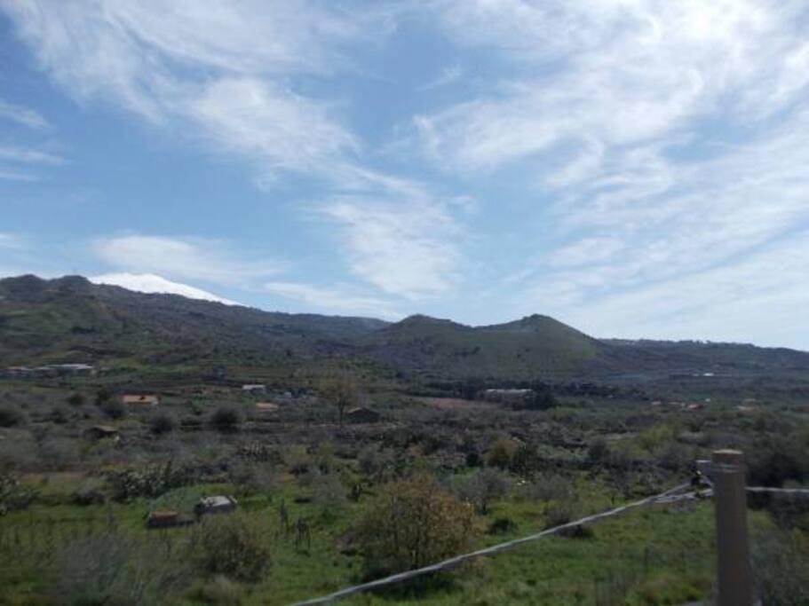 """Vista: """"Etna e Monte Barca"""""""
