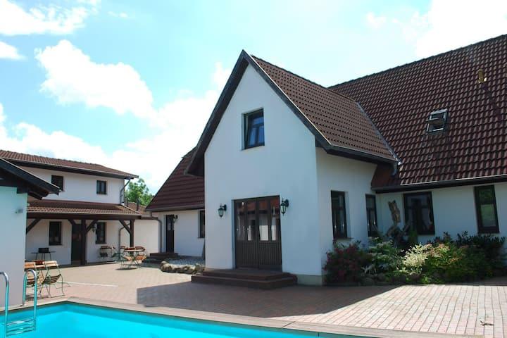 Spacious Apartment in Dargun Mecklenburg with Swimming Pool