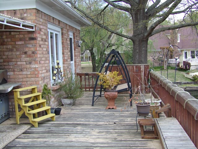 The deck with our swing, try it for yourself.