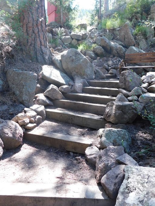 Steps to river