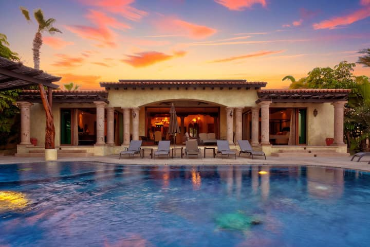 Stunning Beach-views & Infinity Pool | Hacienda-Style Estate CABO | 8 ppl
