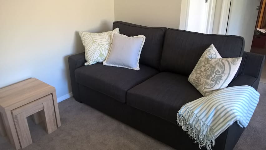 Lounge converts to double sofa bed