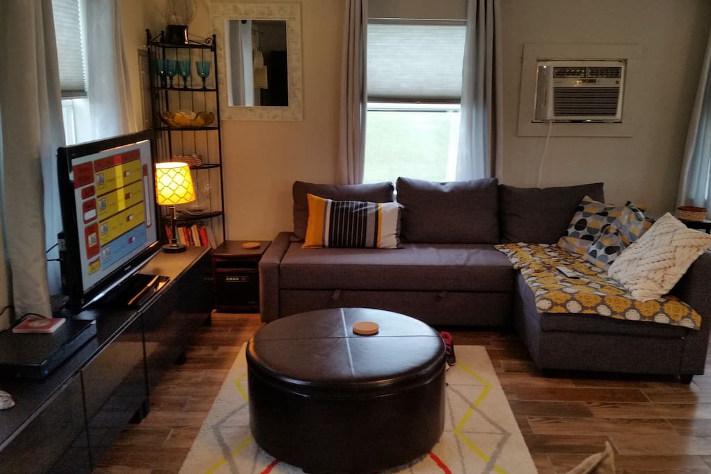 Living Room with 2 full size sleepers.