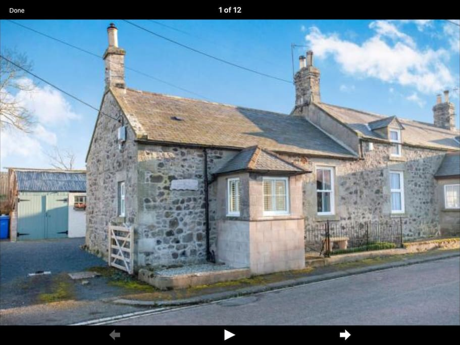 Built in the 1860's our single-storey, stone built cottage sits on a quiet road in the peaceful village of Branxton.