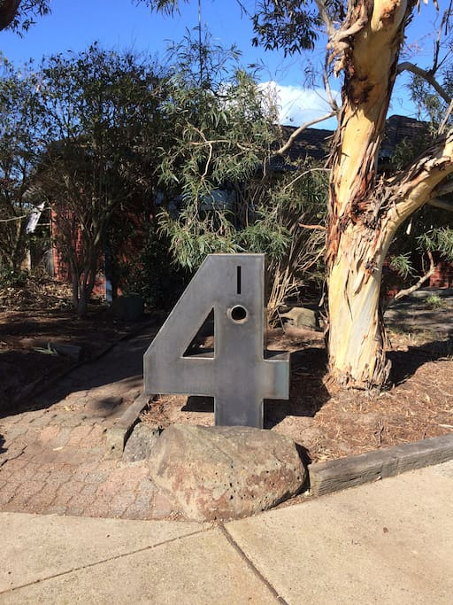 Look for the BIG number 4 letter box when you arrive!