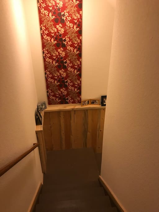 Entry to basement living space.