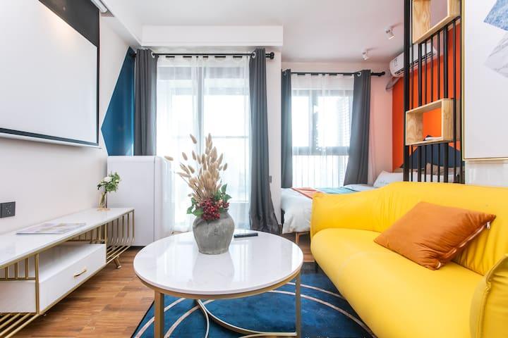 【HOSTAY·橙蓝】巨幕电影房♥丨一居室丨海上世界/蛇口港