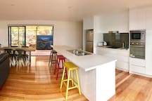 Kitchen and through to rear deck