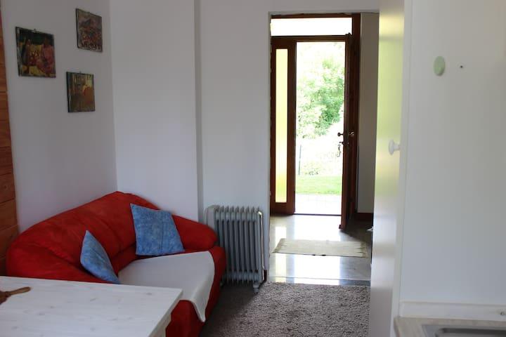 soggiorno e porta d'ingresso/   living room and front door