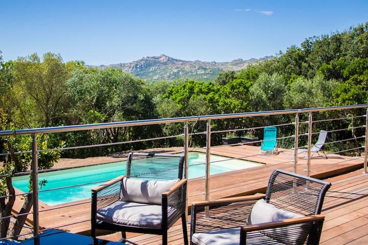 Villa with swimming-pool Bonifacio - Casa Caprile