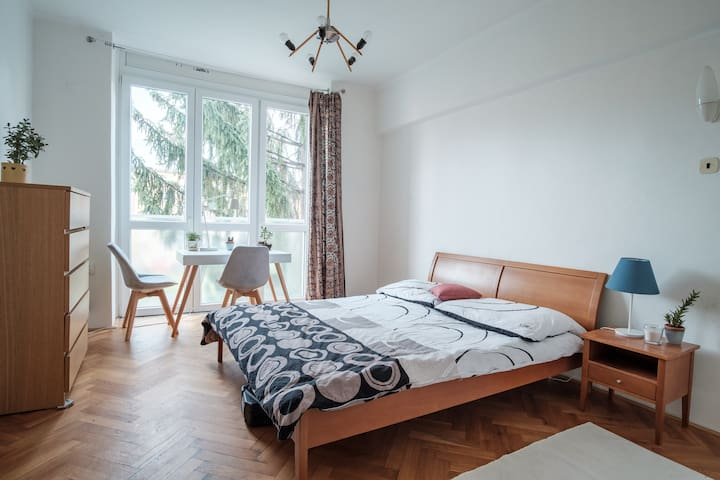 Sunny room 15 mins from Downtown Prague