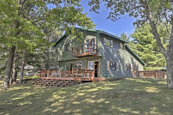 Lakefront Cabin w/ Boathouse, Canoe, Deck & Sauna!
