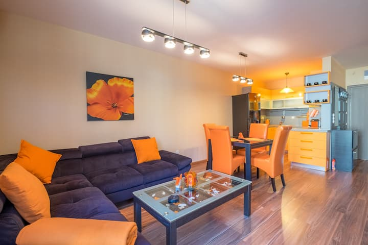 Designers Orange Apartment