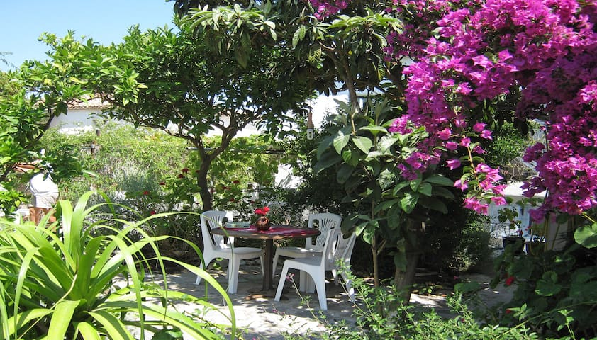 Aleiki Villa in Methoni village 500m from beach.
