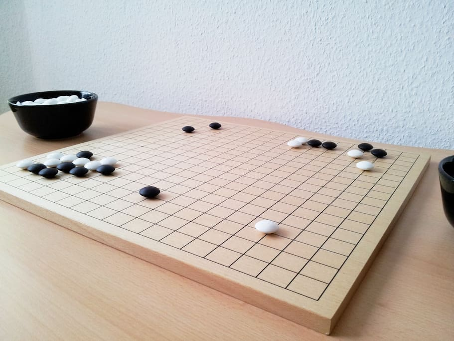 A game of Go to soothe a traveller's weary mind...?