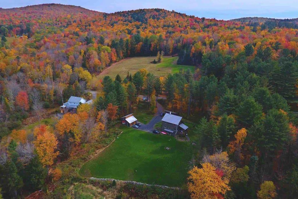 Autumn 2016- 151 Gould Hill, Worcester. Photo Credit: Matt Benedetto of Vermont Aerial Photo