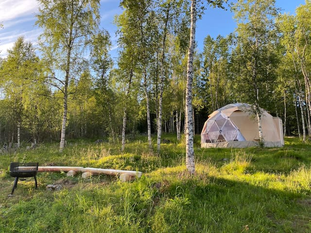 Glamping  North- Arctic light - Fjord view