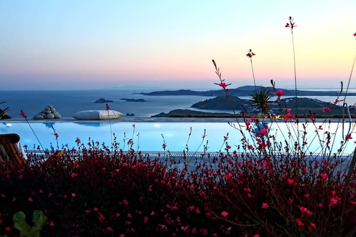 AegeanBlueVilla Majestic View & Charm For 4 person - Mikonos - Villa