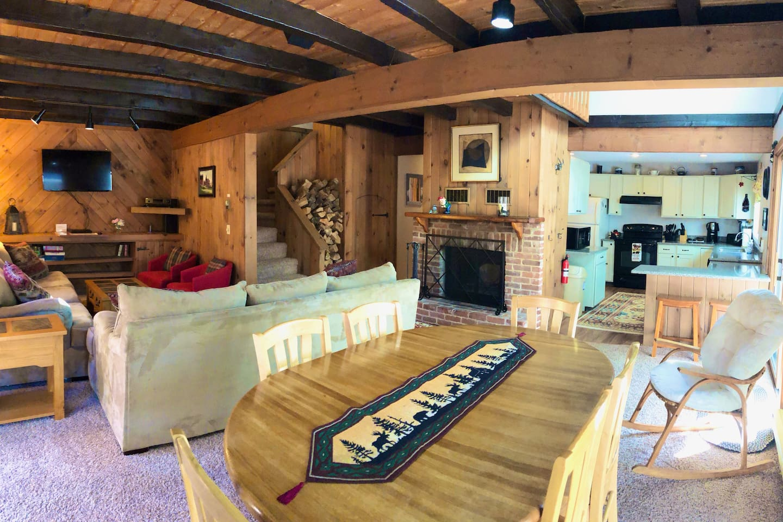 Open concept living room/dinning room.