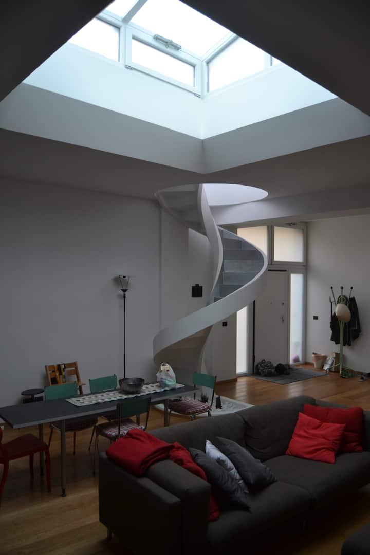 loft d'artista con terrazzo