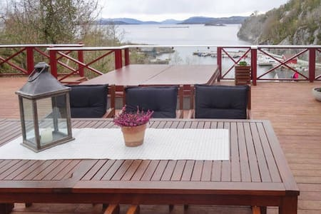 Vacation rental - Fogn, Norway Only 80m from fjord - Fogn - Hytte
