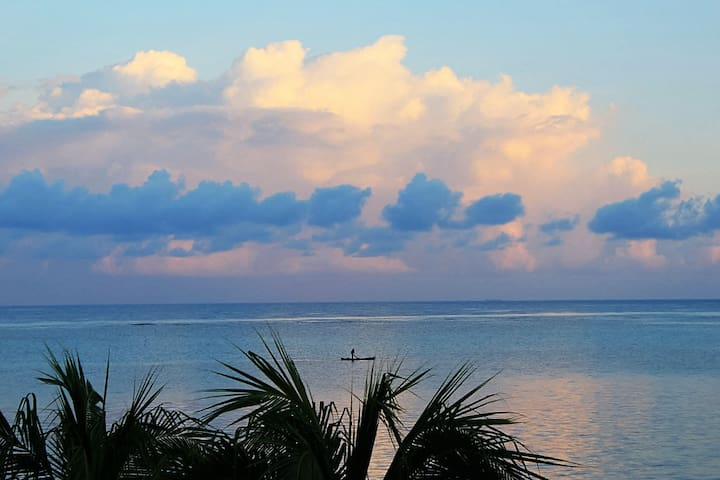 A tropical cloud makes for a calming evening view.