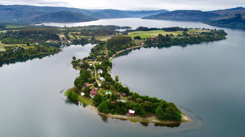 Alojamiento a orillas del lago lanalhue