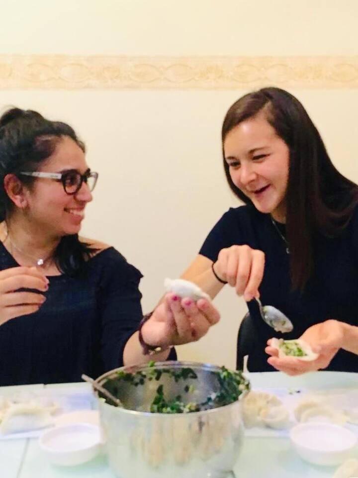 Funny dumpling shape your friend create