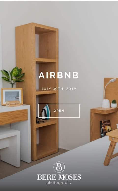 Casa climatizada/alberca en cluster/aeropuerto