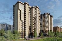 Наш дом находится в престижном р-не Дмитрова, в шаговой доступности Ледовый Дворец, фитес центр Олимпик, бассейн Дельфин, банки, магазины, боулинг.