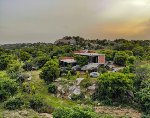 The Boulder House   tucked away in the lap of nature   60kms  from Bangalore