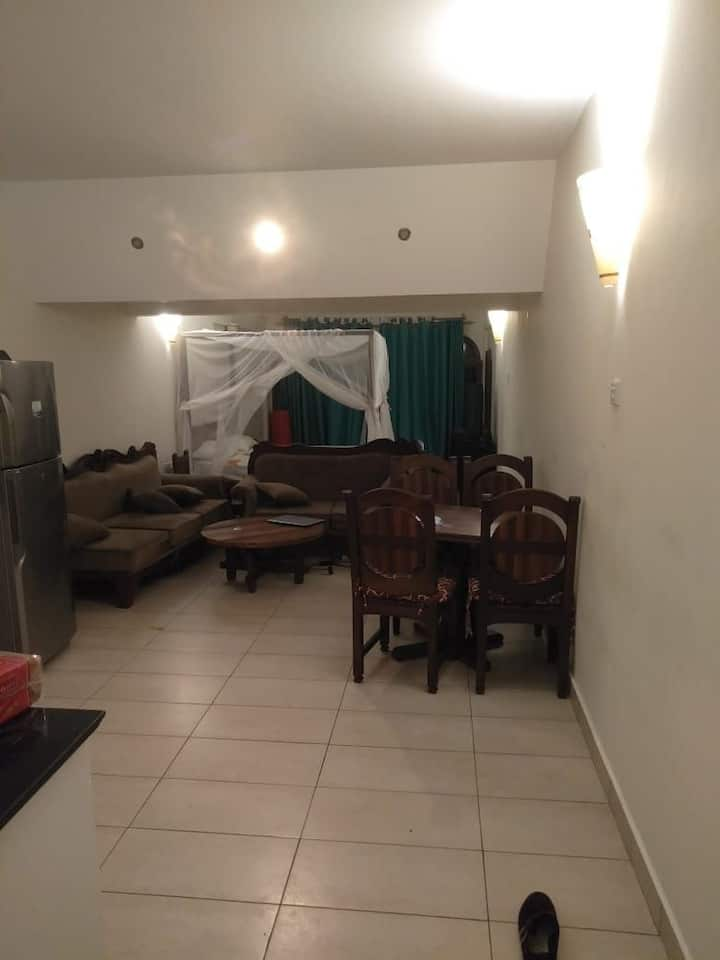 Beach front studio apartment in Diani