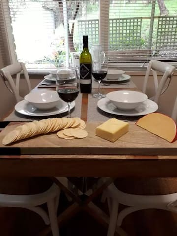 Cheese and wine with good company