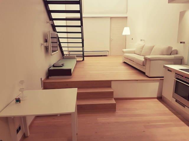 living room through 2 floors