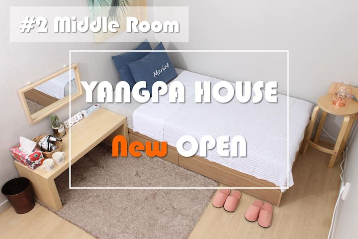NEW OPEN #2 Middle room, cute & comfortable place