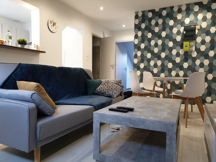 ☆Appartement cosy! ☆ EPINAL gare ☆Netflix