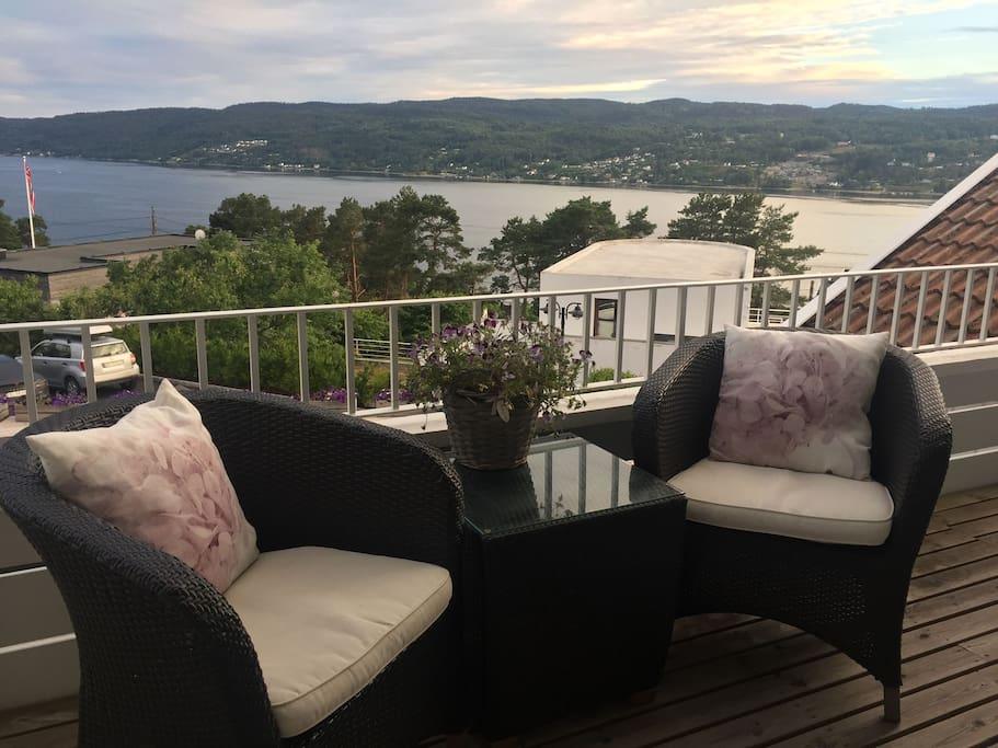 Nydelig utsikt fra terrasse