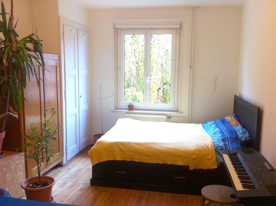 Chambre lit 2 places et espace canap appartements for Chambre a louer a lausanne