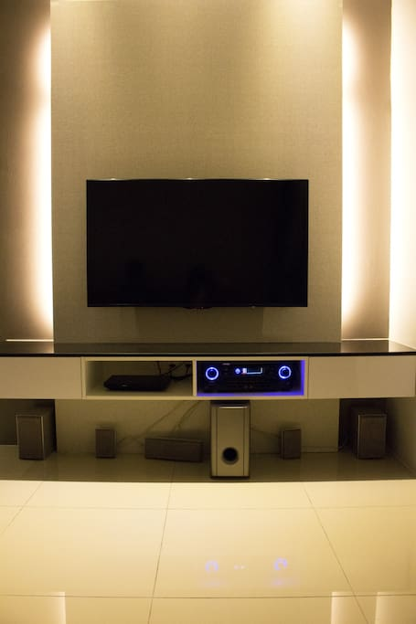 "50"" TV, DVD player and Audio Studio"