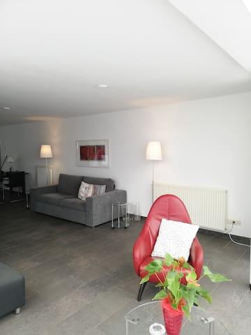Moderne woonkamer met comfortabele meubels