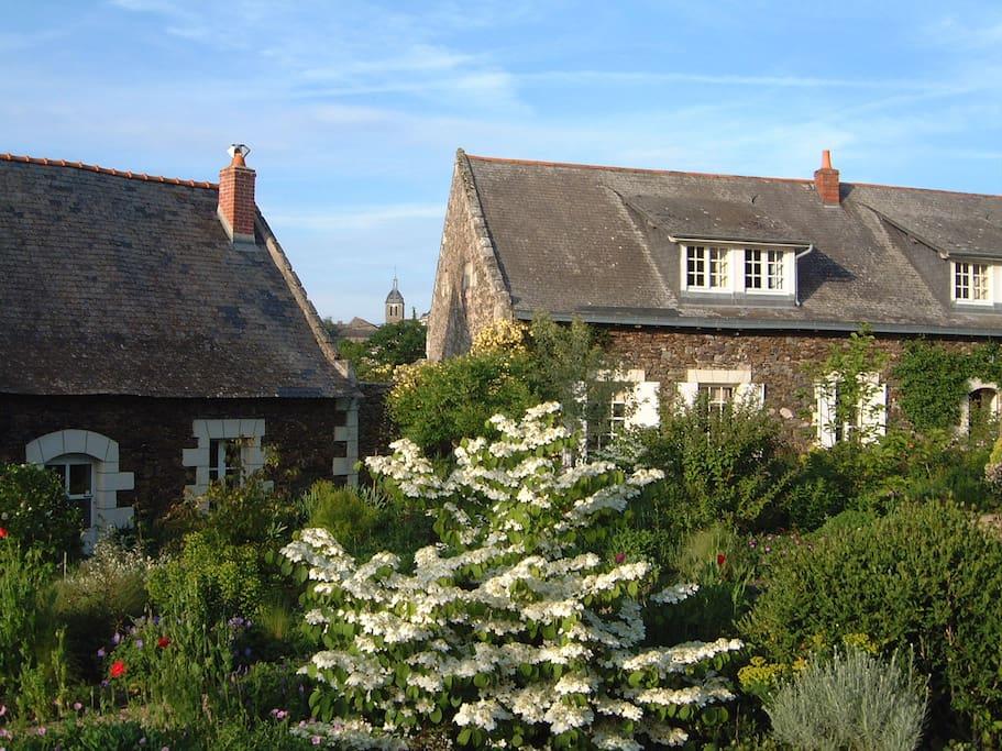 Maison de plain pied sur le jardin