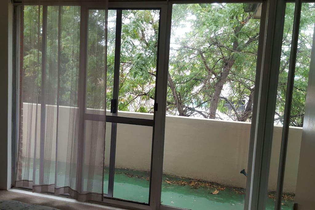 beautiful private balcony