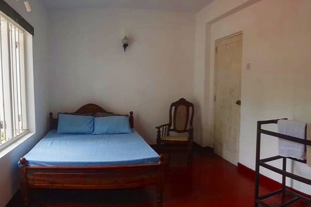Double bed room with attached bathroom