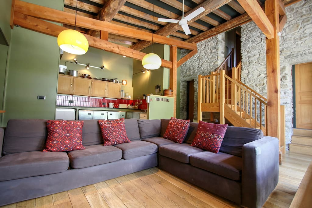 Comfy lounge with plenty of space for everyone.