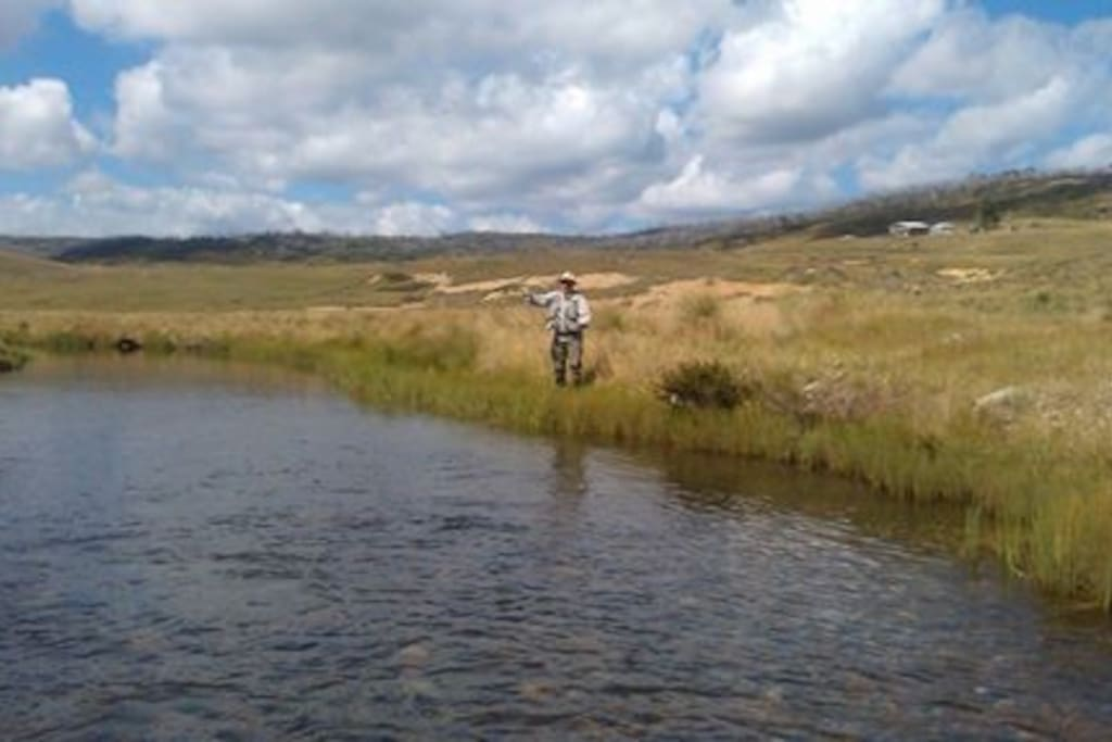 Fly fishing in February